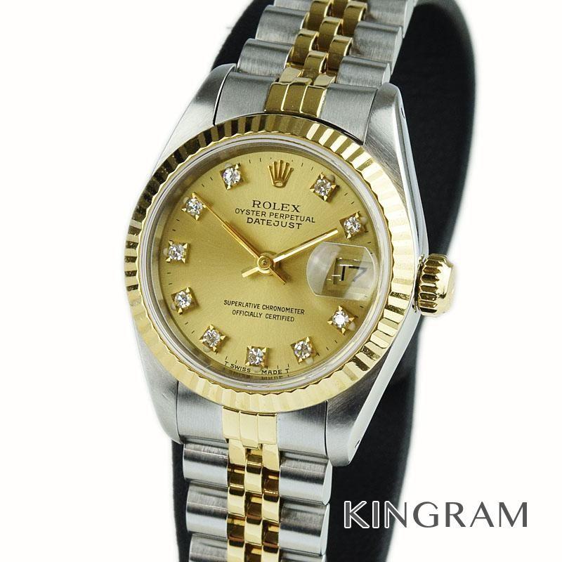 ロレックス ROLEX デイトジャスト Ref.69173G 10P 89年製 外装仕上げ済 自動巻 レディース 腕時計 te 【中古】