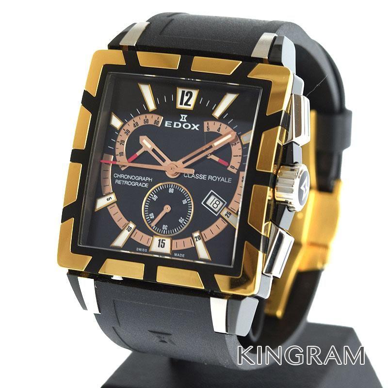 エドックス EDOX クラス ロイヤル クロノグラフ Ref.01504357RNNIR アウトレット クォーツ メンズ 腕時計 ec 【中古】