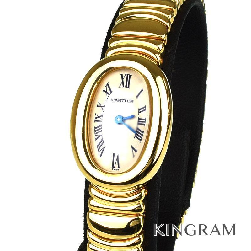 カルティエ Cartier ミニベニュワール Ref.W15109D8 2368 クォーツ レディース 腕時計 fah 【中古】