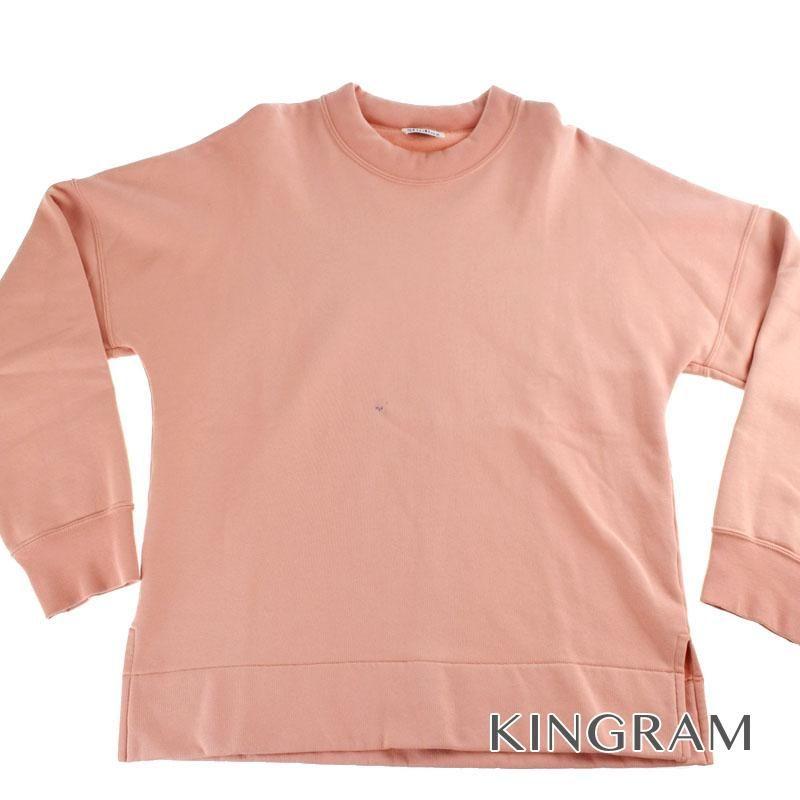 アクネストゥディオズ ACNE STUDIOS Folke Sweatshirt Lサイズ PSS17 パールピンク コットン100% メンズトップス rsn 【中古】