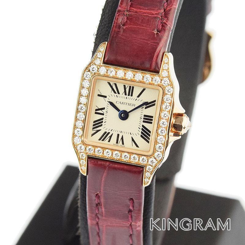 カルティエ Cartier ミニサントスドゥモワゼル Ref.WF902004 ダイヤベゼル クォーツ レディース 腕時計 tu 【中古】