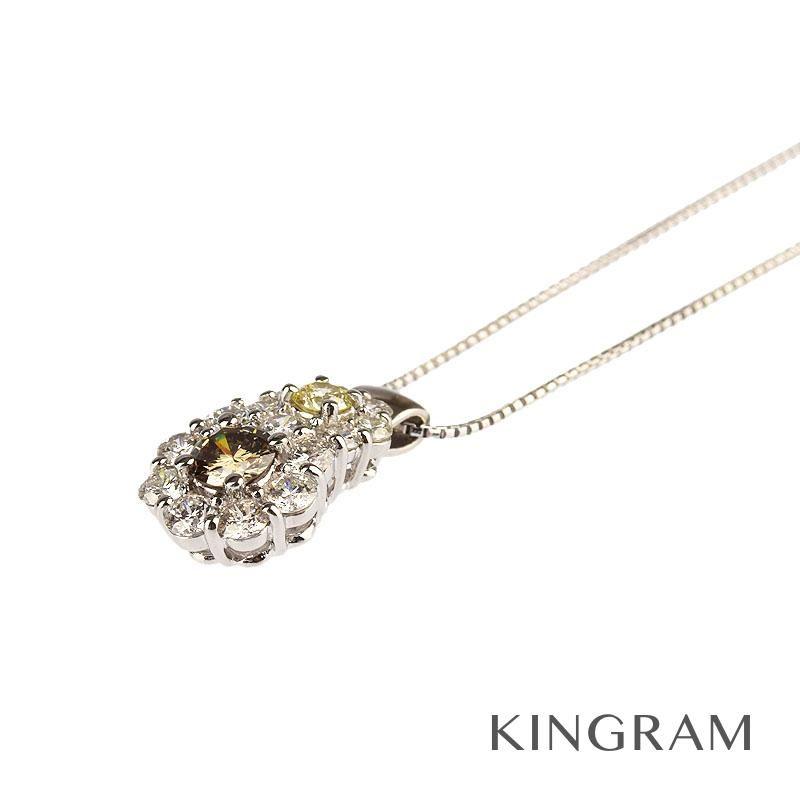 ノーブランド Generic items ネックレス PT850 PT900 ダイヤモンド D2.00ct クリーニング済 mi 【中古】