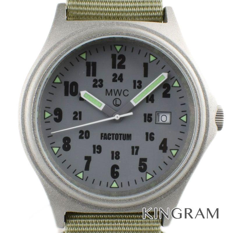 ミリタリーウォッチカンパニー MWC Ref.09120931 MWC×FACTOTUM コラボ クォーツ メンズ 腕時計 te 【中古】