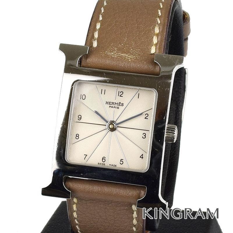 エルメス HERMES Hウォッチ Ref.HH1.210 □O刻印 2011年製 クォーツ レディース 腕時計 mi 【中古】