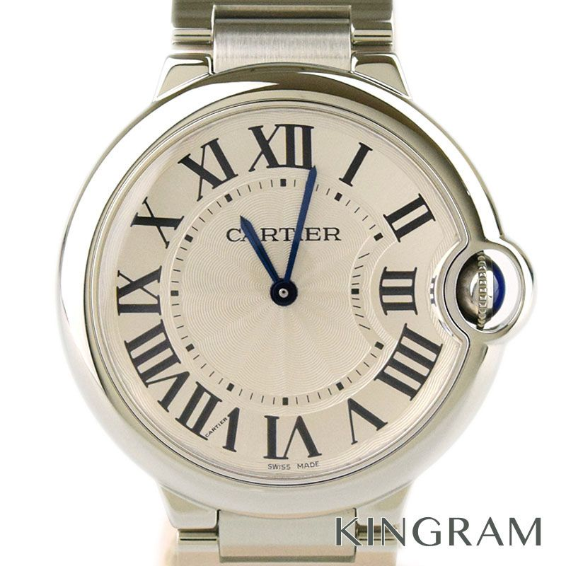 カルティエ Cartier バロンブルーMM Ref.W69011Z4 男女兼用 クォーツ 男女兼用腕時計 se 【中古】