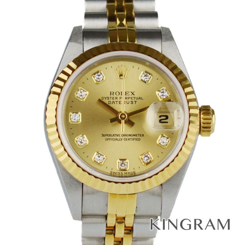ロレックス ROLEX デイトジャスト Ref.69173G 新ダイヤ T番 自動巻 レディース 腕時計 hs 【中古】