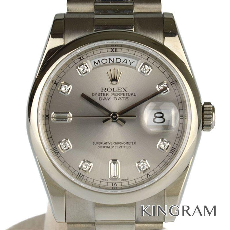 ロレックス ROLEX デイデイト Ref.118209A 10P 自動巻 メンズ 腕時計 se 【中古】