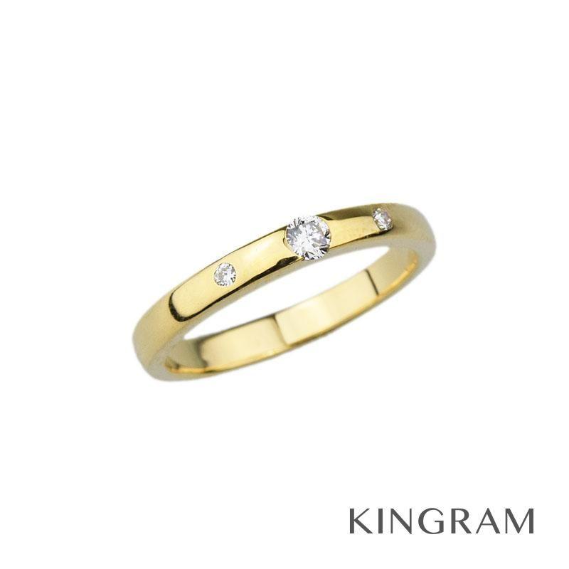 スタージュエリー Star Jewelry リング K18YG ダイヤモンド 0.09ct 10号 クリーニング済 mi 【中古】