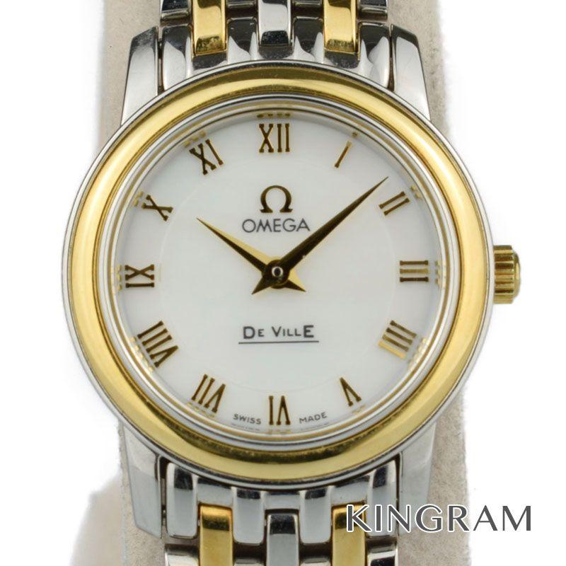 オメガ OMEGA デビルプレステージ Ref.4370.71 クォーツ レディース 腕時計 fke 【中古】