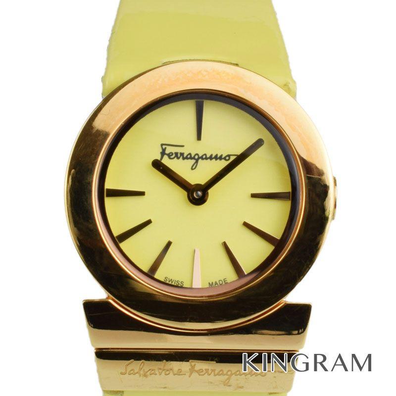 サルヴァトーレフェラガモ Salvatore Ferragamo Ref.FD8030014 クォーツ レディース 腕時計 rib 【中古】
