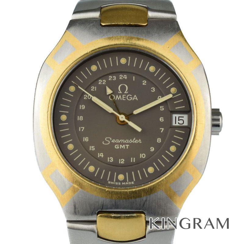オメガ OMEGA シーマスターポラリスGMT 機械点検済 クォーツ メンズ 腕時計 rib 【中古】