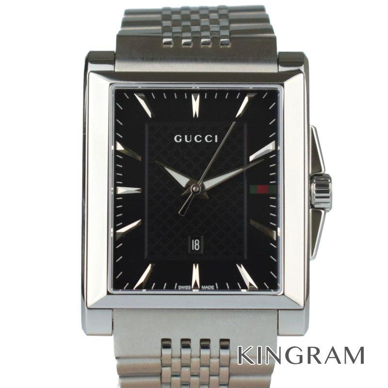 グッチ GUCCI Ref.138.4 YA138401 Gタイムレス クォーツ メンズ 腕時計 rib 【中古】