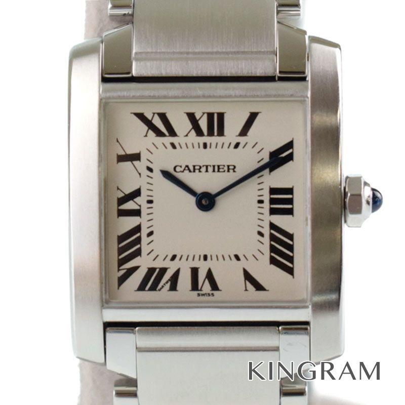 カルティエ Cartier タンクフランセーズMM Ref.W51011Q3 クォーツ 男女兼用腕時計 rkd 【中古】