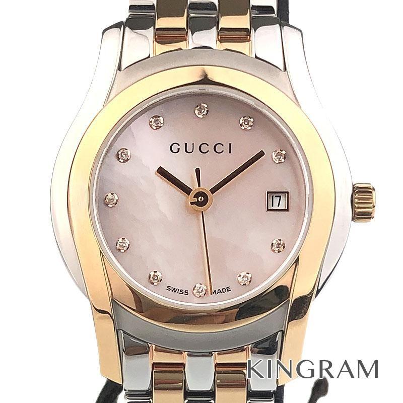 グッチ GUCCI 5500L Gクラス Ref.YA055536 アウトレット クォーツ レディース 腕時計 ec 【中古】
