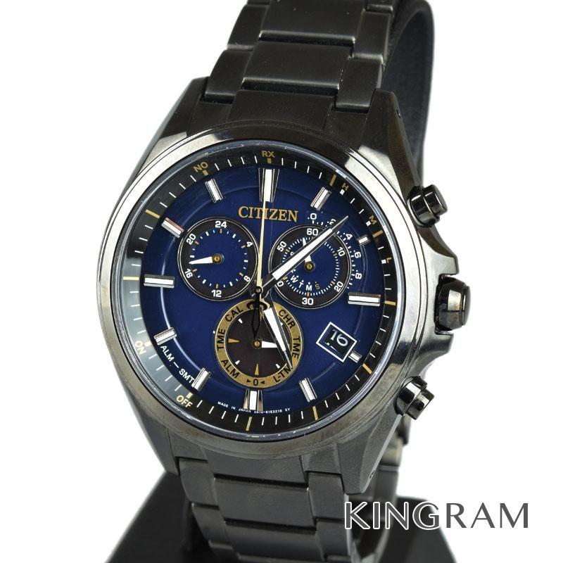 シチズン CITIZEN エコドライブ Ref.AT3055-57L アテッサ ATESSA 30周年記念モデル ソーラークォーツ メンズ 腕時計 mo 【中古】