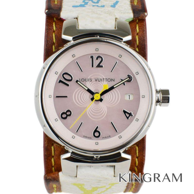 ルイ・ヴィトン LOUIS VUITTON Ref.Q1216 ピンクシェル タンブール クォーツ レディース 腕時計 rkd 【中古】