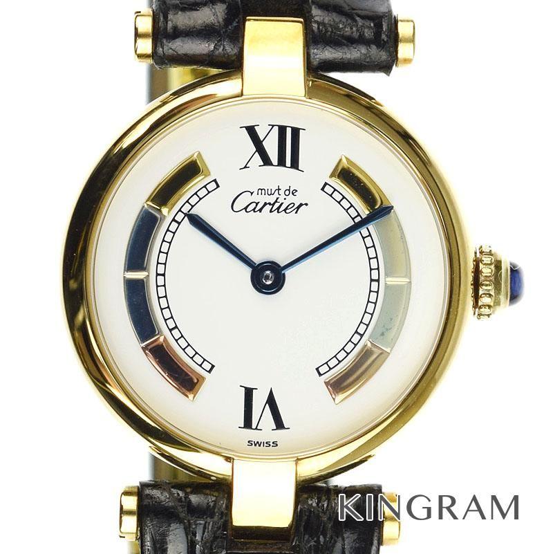 カルティエ Cartier ヴェルメイユ Ref.590004 ヴァンドーム クォーツ レディース 腕時計 ka 【中古】