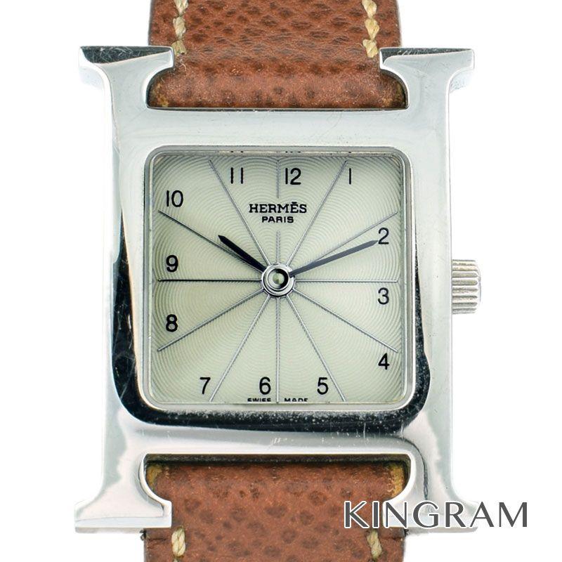 エルメス HERMES Hウォッチ Ref.HH1.210 電池交換済 クォーツ レディース 腕時計 mo 【中古】