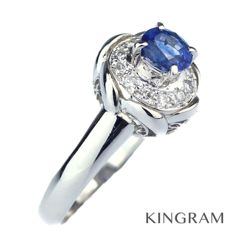 ノーブランド Generic items リング PT900 サファイヤ ダイヤモンド 13.5号 クリーニング済 ju 【中古】