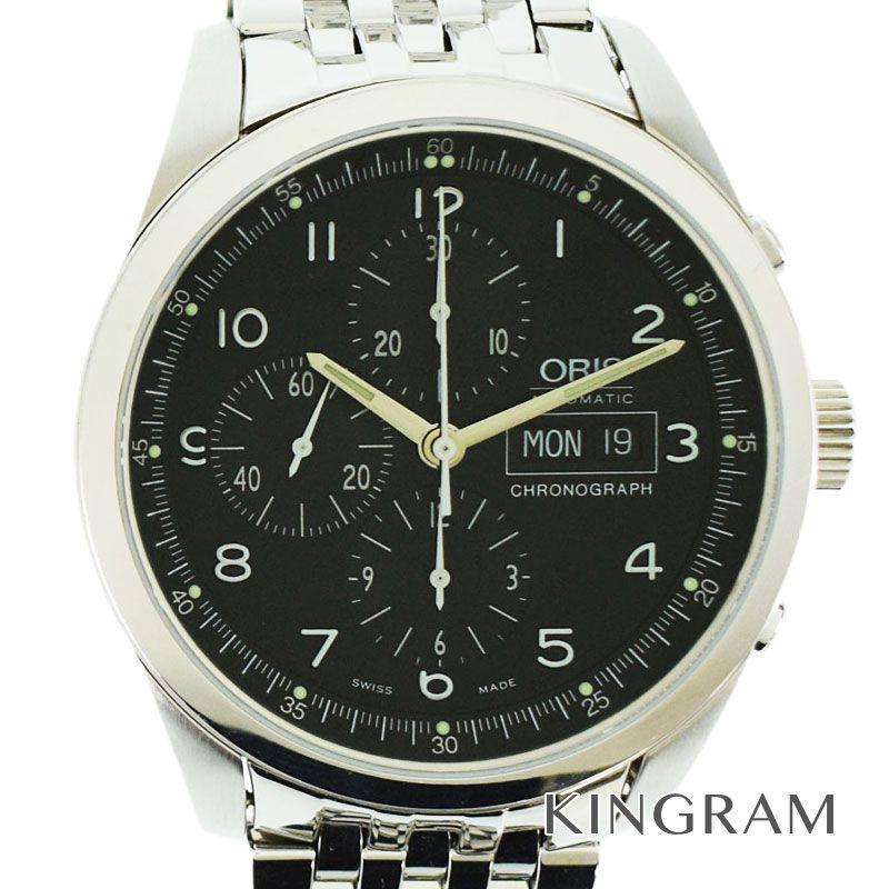 オリス ORIS Ref.675 7515 4064M クラシックXXL クロノグラフ 自動巻 メンズ 腕時計 se 【中古】