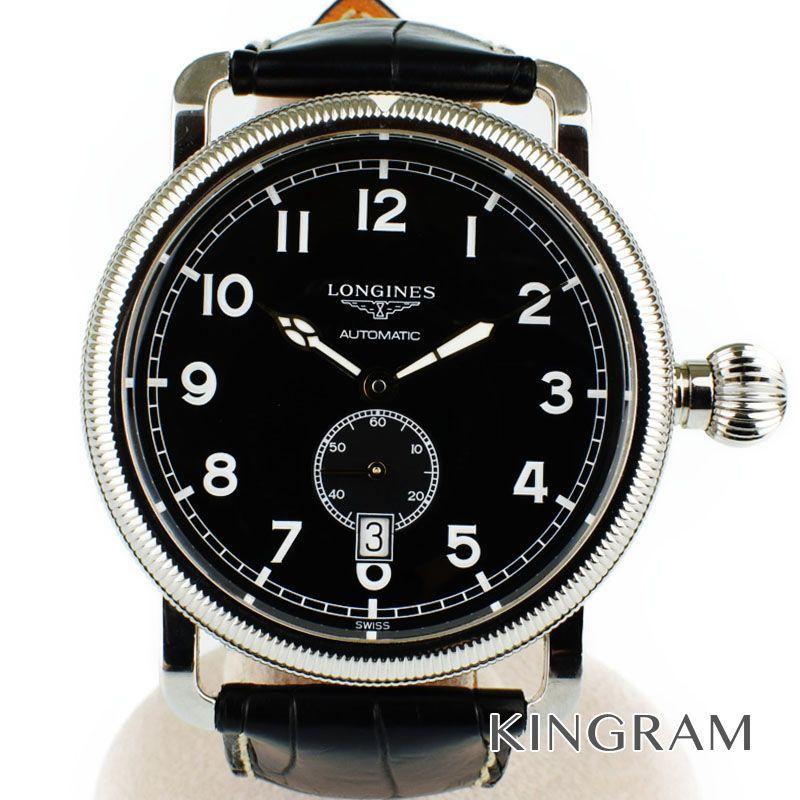 ロンジン LONGINES ヘリテージ アヴィゲーション オーバーサイズ Ref.L2.777.4.53.2 自動巻 メンズ 腕時計 rna 【中古】