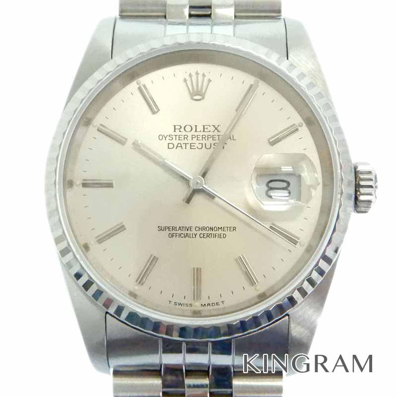 ロレックス ROLEX デイトジャスト16234 Cal3135 1987年製 自動巻 ギャランティ ケースあり シルバー文字盤 メンス腕時計 tu 【中古】