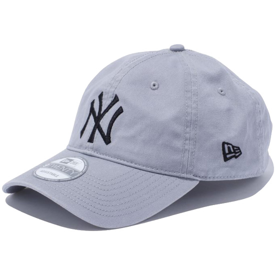 ニューエラ キャップ NEW ERA 9TWENTY Cloth Strap Washed Cotton ニューヨーク ヤンキース キャップ 帽子 グレー×ブラック 11308522