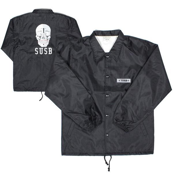 送料無料 7UNION 7ユニオン Native Skull Coach Jacket コーチジャケット メンズ アウター 7IAXY-310C ブラック