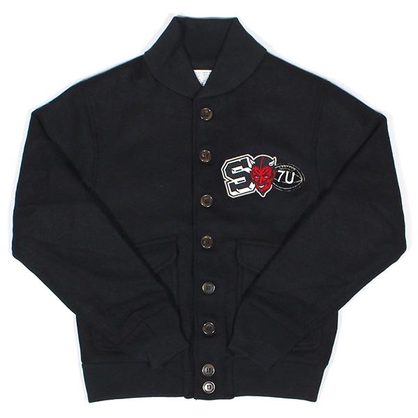 送料無料 7UNION 7ユニオン The Varsity Jacket スタジアムジャケット メンズ A2ジャケット IAXY-012C ブラック