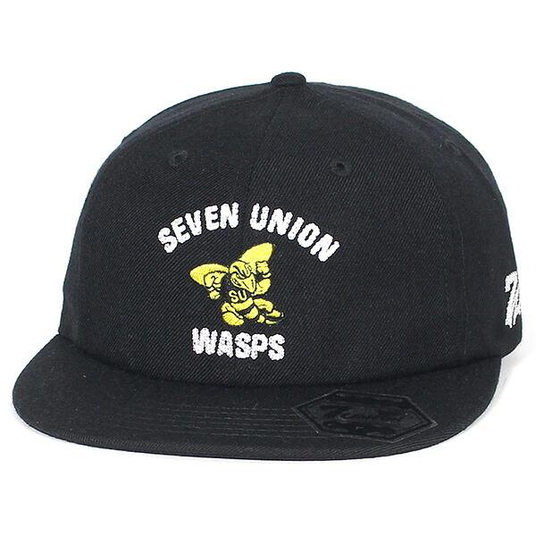 7UNION 7ユニオン The Wasps Snapback Cap ストラップバックキャップ ユニセックス 帽子 IAXY-115 ブラック