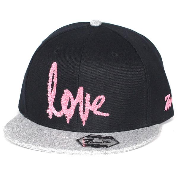 7UNION 7ユニオン Love Peace Unity Snapback Cap スナップバックキャップ ユニセックス 帽子 IAXY-119 ブラック×グレー