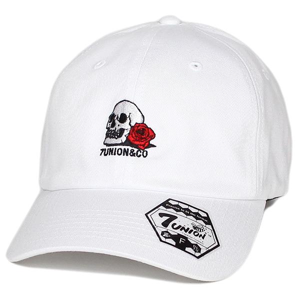 7ユニオン キャップ ベントブリム 帽子 7UNION Skull & Rose Bent Brim Cap IPVW-147 ホワイト