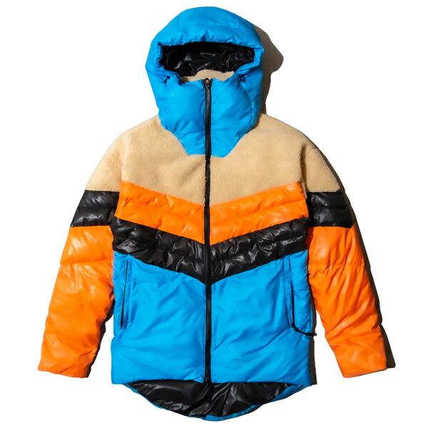 ナインルーラーズ ジャケット メンズ レディース 送料無料 NINE RULAZ LINE Nylon and Boa Combi Puffed Jacket アウター ボア ナイロン ストリート レゲエ ブランド M-XXL マルチカラー NRAW19-015