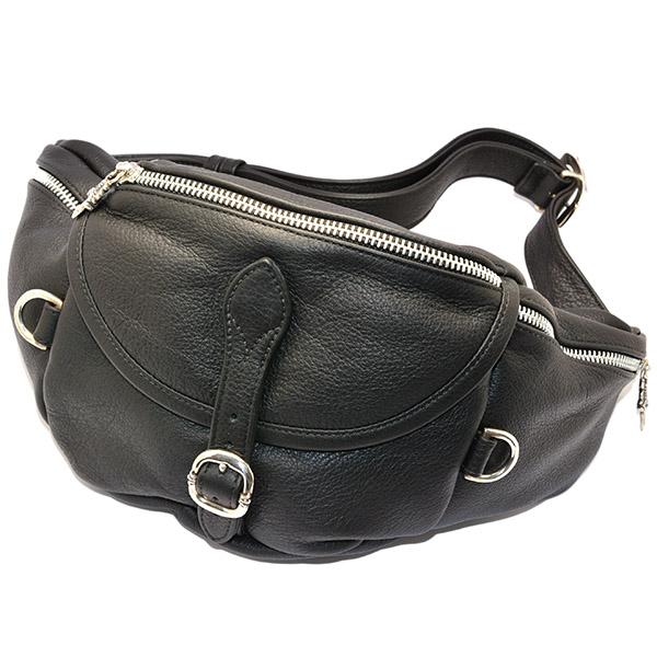 CHROME HEARTS(クロムハーツ) XL SNAT PACK Medium Weight Black Leather スナット パック ミディアムウェイト ブラックレザー l 正規品 送料無料 プレゼント ギフト メンズ アクセサリー シルバー 925 クロム 芸能人 愛用