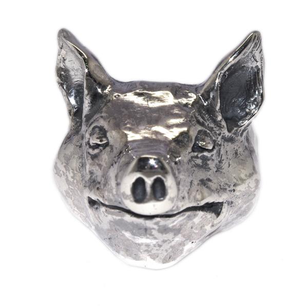 CRAZY PIG DESIGNS(クレイジーピッグ) LARGE PIG HEAD RING #40