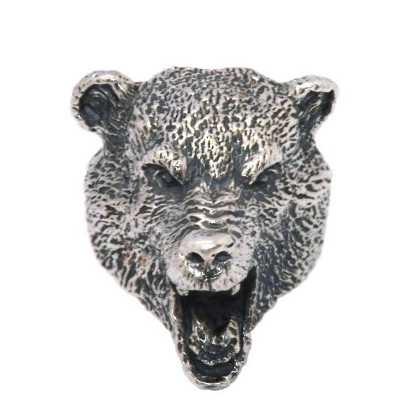 CRAZY PIG(クレイジーピッグ) BEAR HEAD RING ベア-ヘッドリング #642