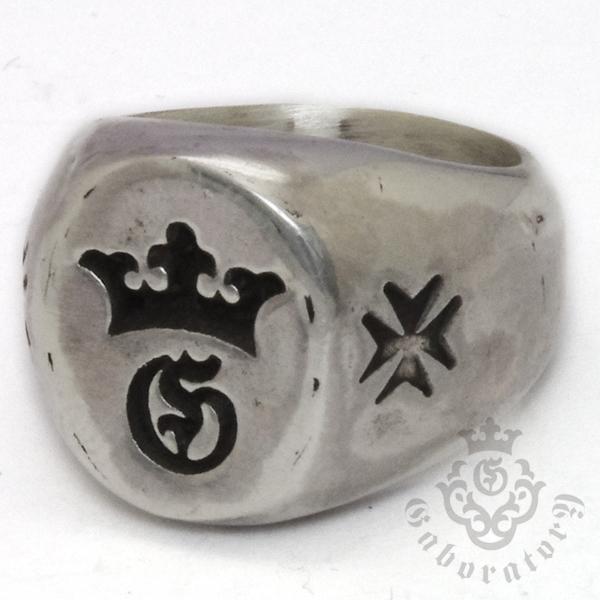 Gaboratory(ガボラトリー) G&Crown Small Signet Ring  G&クラウン スモールシグネットリング 154‐B l ガボラトリー ガボール 正規品 送料無料 誕生日 プレゼント ギフト レディース メンズ アクセサリー シルバー 925 リング ペア 大人気