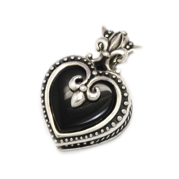 ROYAL ORDER(ロイヤルオーダー) SMALL MAGESTIQUE HEART LOCKET W/ONYX