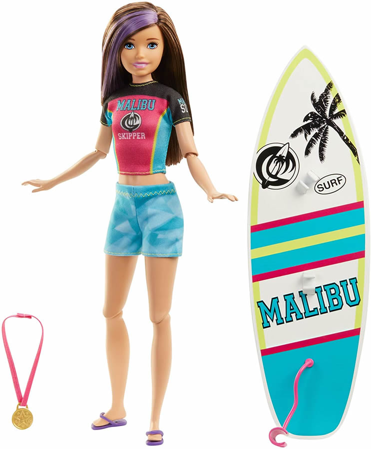 SUMMER with Purple Sunglasses and Hairbrush Barbie Year 2008 Beach Party Series 11 Inch Doll Mattel N4903