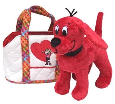 ぬいぐるみ クリフォード トートバッグ入プラッシュ Clifford THE BIG RED DOG DOUGLAS社
