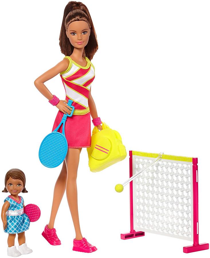 バービー テニスコーチ ドール(2体)&プレイセット (Barbie Careers Tennis Coach Playset/ DVG15 /MATTEL社/バービー人形,ハウス)