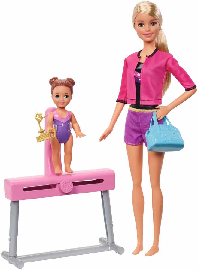 バービー 体操コーチ ドール(2体)&プレイセット2 (Barbie Gymnastic Coach Dolls & Playset/ FXP39/MATTEL社/バービー人形,ハウス)
