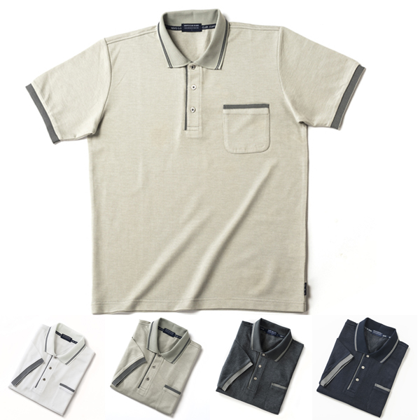 大きいサイズLL 3L 4L 半袖 胸ポケット有り メール便送料無料 スーパーSALE ショッピング 大きいサイズ メール便配送限定 期間限定お試し価格 ポロシャツ サイズ 送料無料 LL 50%OFF