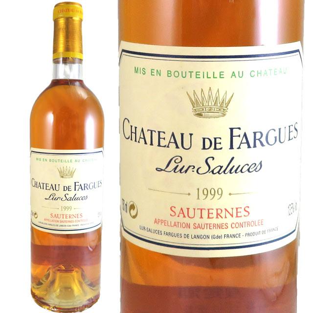 シャトー・ド・ファルグ 1999 750ml 貴腐ワイン ソーテルヌ 【Sauternes デザートワイン】