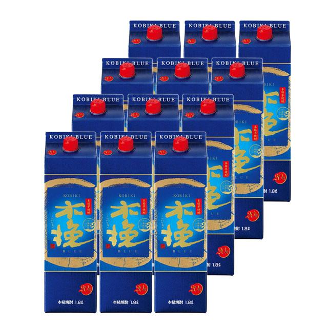 木挽ブルー パック 20度 1.8L×12本 送料無料 雲海酒造 パック
