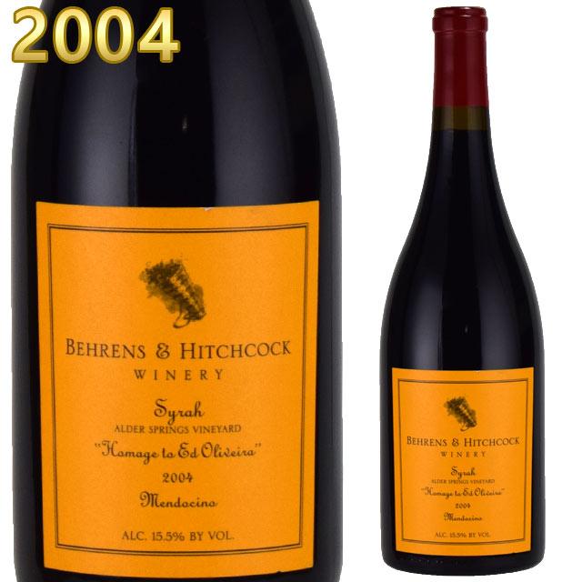 ベーレンス&ヒッチコック シラー オマージュ・トゥ・エド・オリヴェイラ 2004 750ml赤 Behrens & Hitchcock Hommage To Ed Oliveira