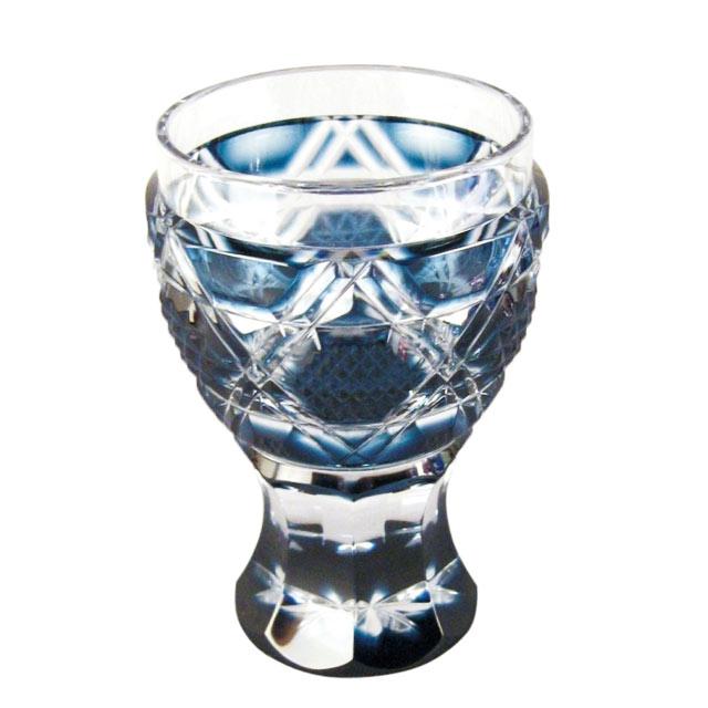 薩摩切子 馬上杯 藍 母の日 父の日 ギフト プレゼント 薩摩切子 グラス 還暦祝 結婚祝 退職祝 記念品