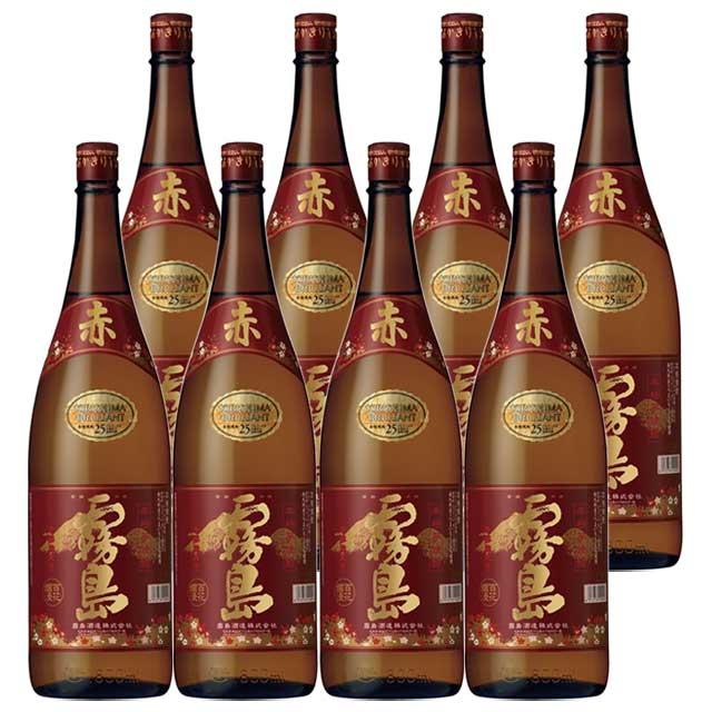 【送料無料】 赤霧島 25度 1.8L×8本セット 【霧島酒造】【限定品】【赤芋】【贈答】【プレゼント】