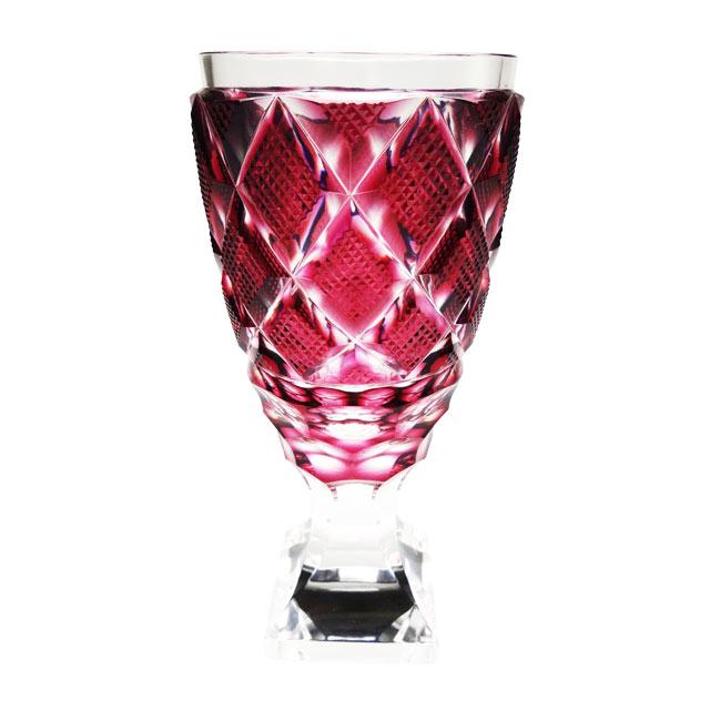 伝匠 薩摩切子 脚付杯(大) 金赤 母の日 父の日 ギフト 薩摩切子 グラス 脚付杯 薩摩切子グラス 還暦祝 結婚祝 退職祝 記念品※北海道・東北地区は、別途送料1000円が発生します。※代引不可商品