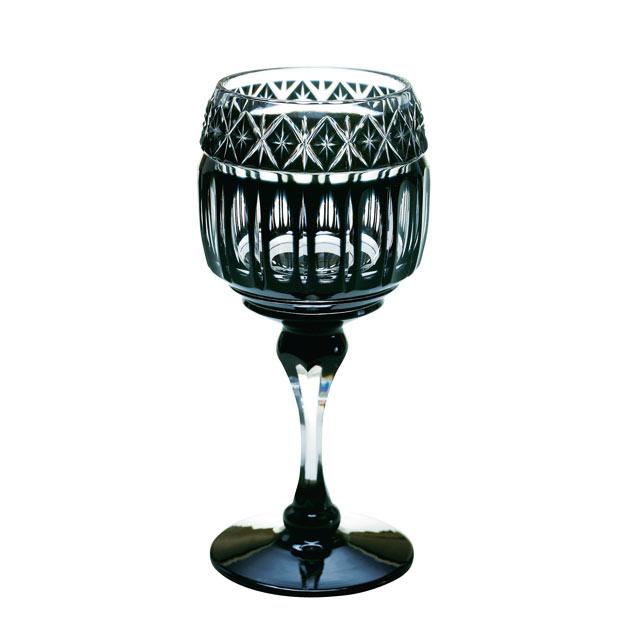 薩摩切子 ワイングラス 黒 母の日 父の日 ギフト 薩摩切子 グラス 薩摩黒切子 黒切子 ワイングラス 薩摩切子グラス 還暦祝 結婚祝 退職祝 記念品※北海道・東北地区は、別途送料1000円が発生します。※代引不可商品